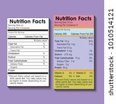 two nutrition facts food label | Shutterstock .eps vector #1010514121