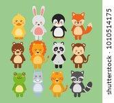 set cute animals wildlife fauna | Shutterstock .eps vector #1010514175