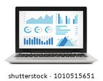 graphs and charts elements on... | Shutterstock . vector #1010515651