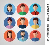 avatar people internet... | Shutterstock .eps vector #1010518255