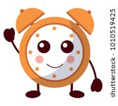 kawaii cartoon clock alarm... | Shutterstock .eps vector #1010519425