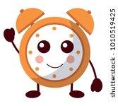 kawaii cartoon clock alarm...   Shutterstock .eps vector #1010519425