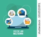 spectre and meltdown laptop...   Shutterstock .eps vector #1010523391