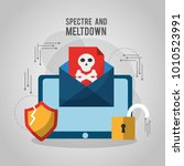 spectre and meltdown email... | Shutterstock .eps vector #1010523991