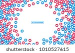 like and heart icons vector... | Shutterstock .eps vector #1010527615