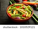 tamil aviyal dish go well with... | Shutterstock . vector #1010529121