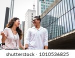 young asian couple tourist in... | Shutterstock . vector #1010536825