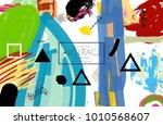 abstract universal art web...   Shutterstock .eps vector #1010568607