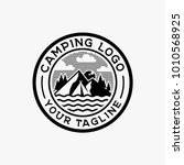 camping logo design inspiration ... | Shutterstock .eps vector #1010568925