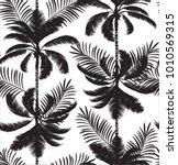 hawaiian palm tree pattern | Shutterstock .eps vector #1010569315