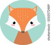 cute cartoon fox. vector animal. | Shutterstock .eps vector #1010572489