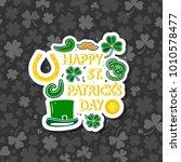 poster for st. patrick's day   Shutterstock .eps vector #1010578477
