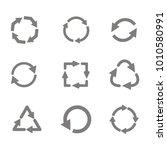 monochrome set with vector...   Shutterstock .eps vector #1010580991