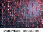 abstract red digital background.... | Shutterstock . vector #1010588281