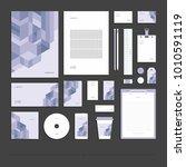 corporate identity  stationery...   Shutterstock .eps vector #1010591119
