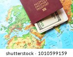 polish biometric passport on...   Shutterstock . vector #1010599159