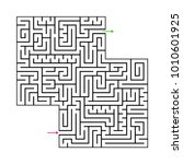 abstract maze labyrinth with...   Shutterstock .eps vector #1010601925