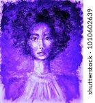 portrait of beautiful woman in... | Shutterstock . vector #1010602639