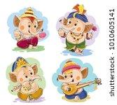vector cartoon illustration of... | Shutterstock .eps vector #1010605141