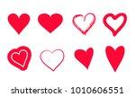 red hearts set | Shutterstock .eps vector #1010606551