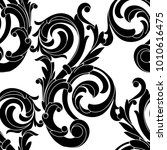 seamless pattern in the baroque ... | Shutterstock .eps vector #1010616475