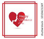 happy mothers day vector...   Shutterstock .eps vector #1010621269