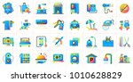 big flat icons set of hotel... | Shutterstock .eps vector #1010628829