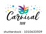 carnival poster  banner with... | Shutterstock .eps vector #1010633509