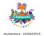 brazilian carnival poster ... | Shutterstock .eps vector #1010633515