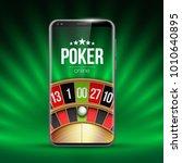 vector online poker casino... | Shutterstock .eps vector #1010640895