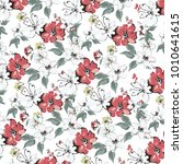 floral pattern in vector | Shutterstock .eps vector #1010641615
