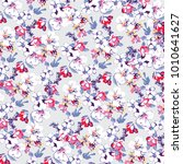 floral pattern in vector | Shutterstock .eps vector #1010641627
