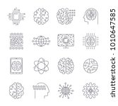 icons in contour  thin and... | Shutterstock .eps vector #1010647585