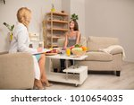 skilled nutritionist and... | Shutterstock . vector #1010654035