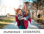 couple in love having fun in... | Shutterstock . vector #1010654251