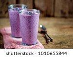 protein cocktail of yogurt ... | Shutterstock . vector #1010655844