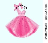 pink party prom dress with bow. ...