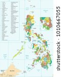 philippines map   high detailed ... | Shutterstock .eps vector #1010667055
