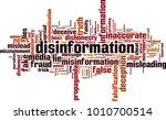 disinformation word cloud... | Shutterstock .eps vector #1010700514