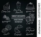 sweet desserts and food vector... | Shutterstock .eps vector #1010702485