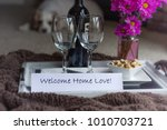 romantic welcome home indoor... | Shutterstock . vector #1010703721