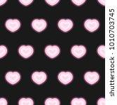 neon heart pattern vector  | Shutterstock .eps vector #1010703745