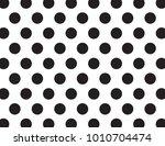 black and white polka dots | Shutterstock .eps vector #1010704474