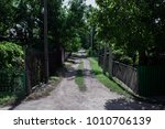 old street in village  green... | Shutterstock . vector #1010706139