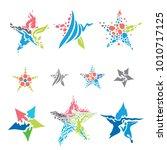 star collection  vector art  | Shutterstock .eps vector #1010717125
