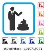 manager show shit icon. flat... | Shutterstock .eps vector #1010719771