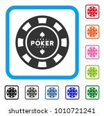poker casino chip icon. flat...