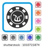 joker casino chip icon. flat...