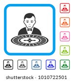 roulette dealer icon. flat gray ...