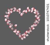 heart shape of cherry petals... | Shutterstock .eps vector #1010747431